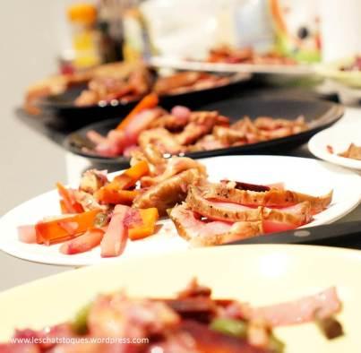 tataki de veau, shiitake et legumes croquants mention ok