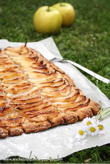 tarte fine aux pommes caramélisées mention