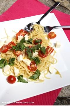 spaghetti tomates basilic fin